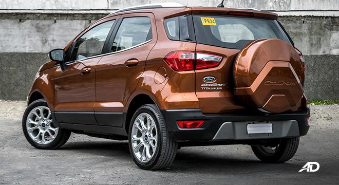 ford ecosport titanium road test exterior rear philippines