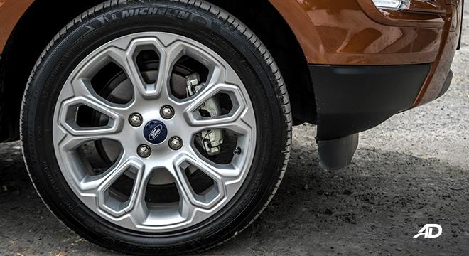 ford ecosport titanium road test exterior wheels