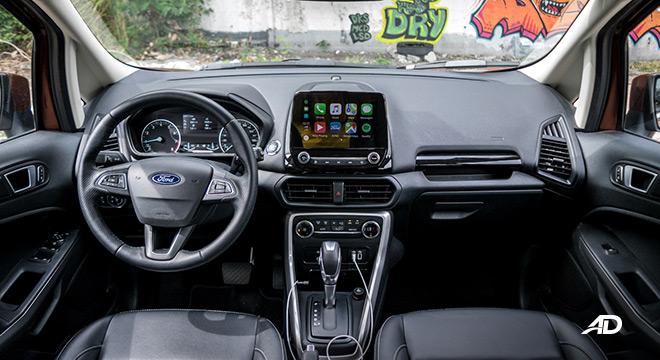 ford ecosport titanium road test interior dashboard philippines
