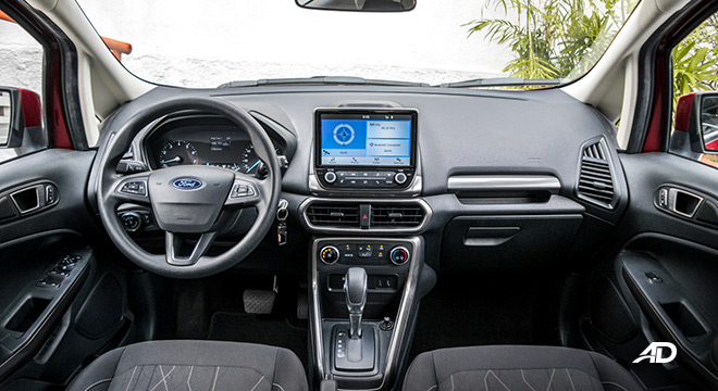 ford ecosport trend road test interior dashboard philippines