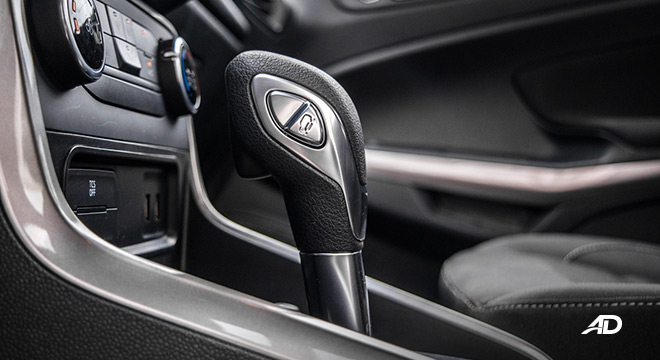 ford ecosport trend road test interior gear lever