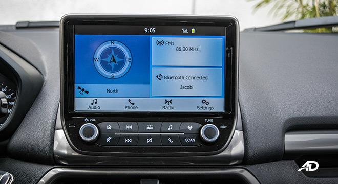 ford ecosport trend road test interior infotainment
