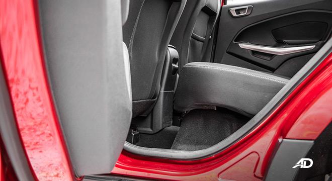 ford ecosport trend road test interior rear cabin