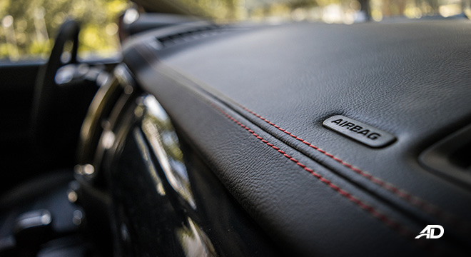 ford ranger fx4 red stitches accent interior