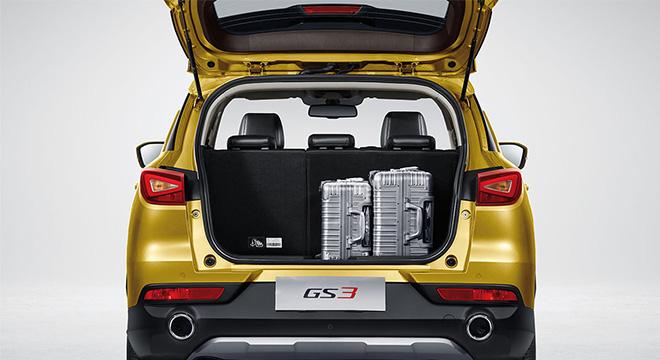 gac gs3 interior trunk cargo philippines