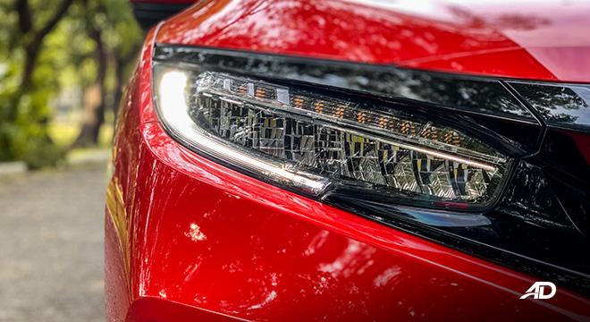 honda civic road test exterior headlights