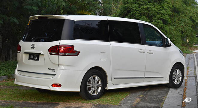 Maxus G10 rear quarter profile
