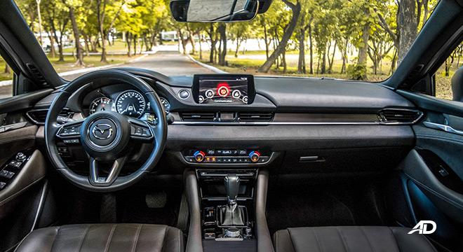 mazda6 sedan road test interior dashboard philippines