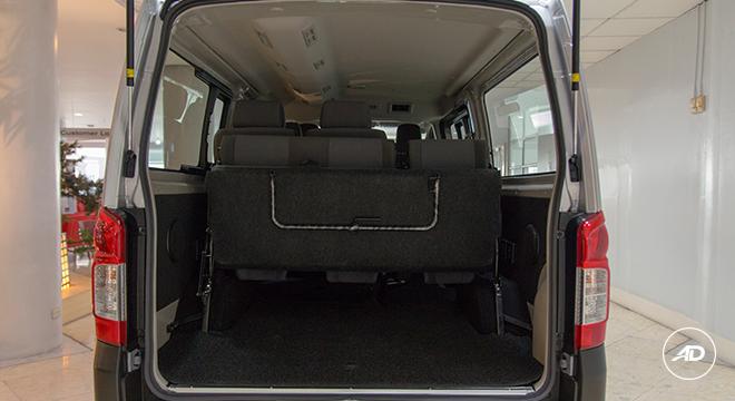 Nissan NV350 Urvan Escapade 12-Seater 2018 rear seats down
