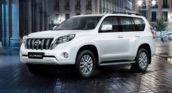 Toyota Land Cruiser Prado 4.0 Gas AT White Pearl