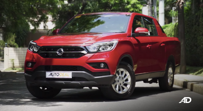Ssangyong musso grand road test front quarter exterior philippines