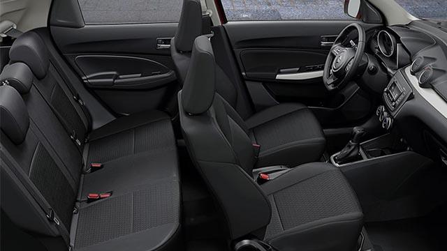 Suzuki Swift interior seats