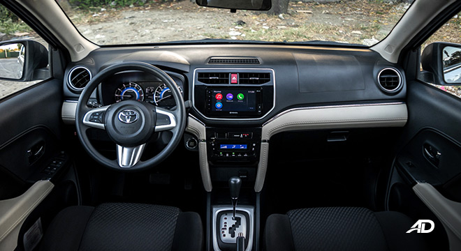 toyota rush interior road test dashboard