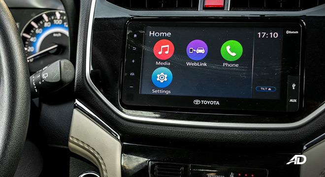 toyota rush interior road test infotainment