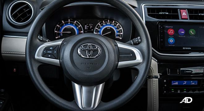 toyota rush interior road test steering wheel