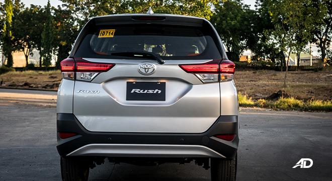 toyota rush road test exterior rear