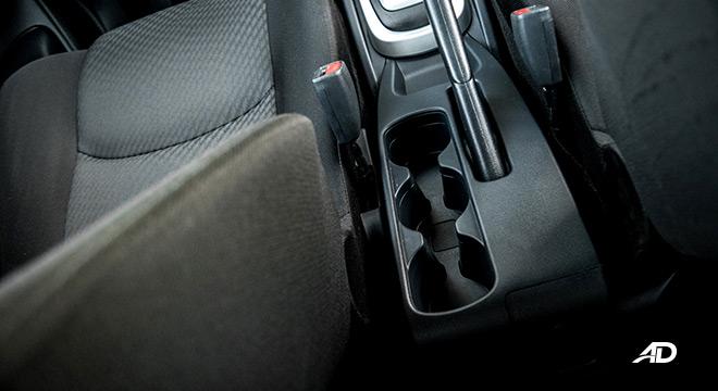 toyota rush road test interior cupholders