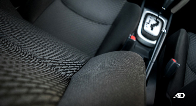 toyota rush road test interior seats