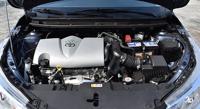 Toyota Vios XLE 1.3 CVT engine bay