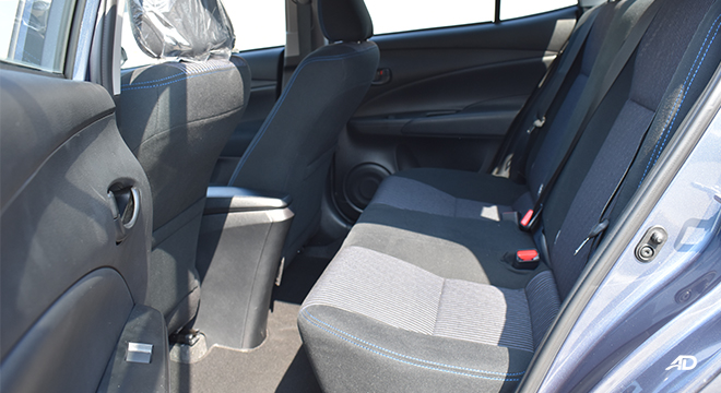 Toyota Vios XLE 1.3 CVT passenger seats