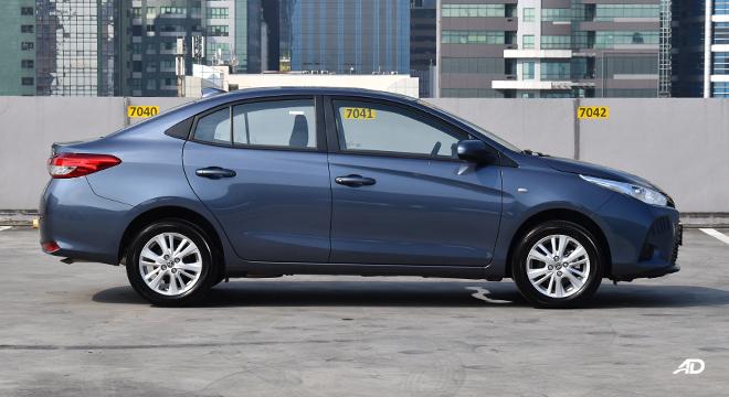 Toyota Vios XLE 1.3 side profile
