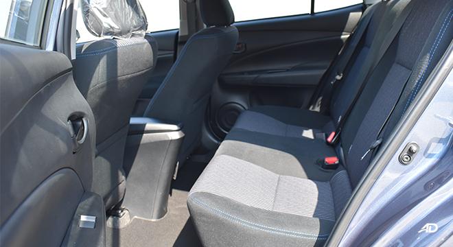 Toyota Vios XLE rear seats
