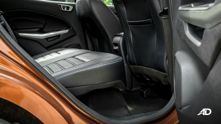 ford ecosport titanium road test interior rear cabin