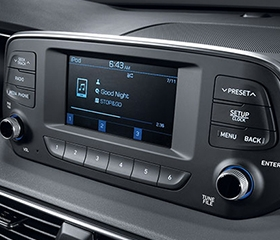 Hyundai Santa Fe entertainment display