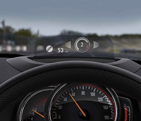 Mini JCW Countryman head-up display