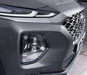 Hyundai Santa Fe headlights