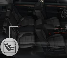 ISOFIX child seat anchors