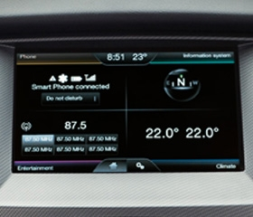 2020 Ford Ranger interior infotainment system