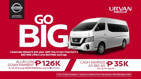 2019 Nissan NV350 Urvan Premium promo Philippines