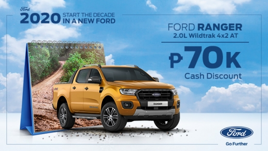 2020 Ford Ranger Wildtrak front exterior Philippines