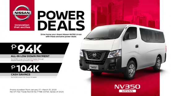 2020 Nissan V350 Urvan exterior front