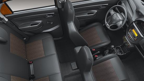 2020 Suzuki S-Presso interior seating layout