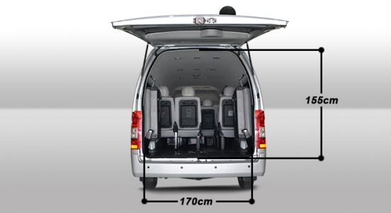 2018 Foton View Traveller 16-seater rear size