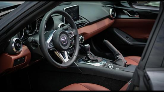 Mazda MX-5 Soft Cherry Top interior