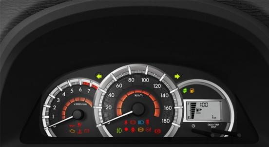 Toyota Avanza 2018 instrument cluster