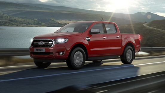 Ford Ranger exterior front red