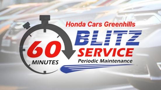 Honda Cars Greenhills Blitz Service Periodic Maintenance