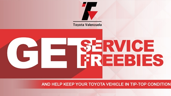 Toyota Valenzuela Service Freebies