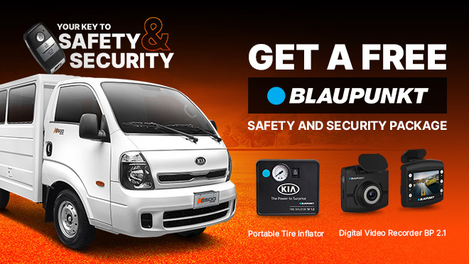 2019 Kia K2500 with Free Blaunpunkt Safety and Security Package