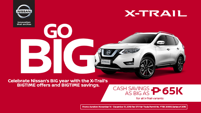 2019 Nissan X-Trail promo Philippines