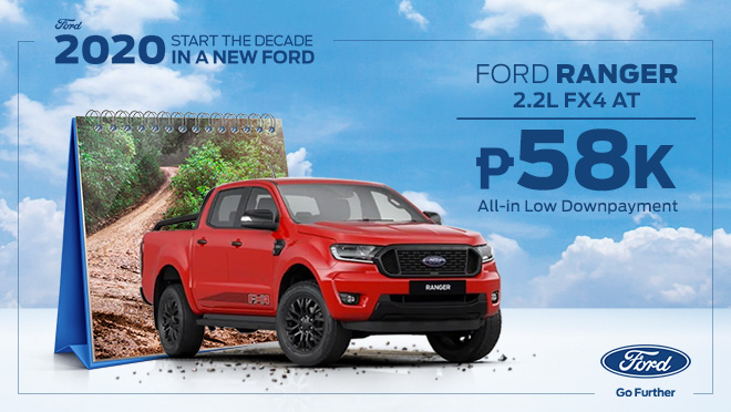2020 Ford Ranger FX4 red exterior Philippines