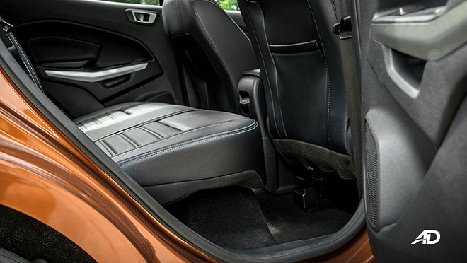 2021 Ford EcoSport interior rear space Philippines