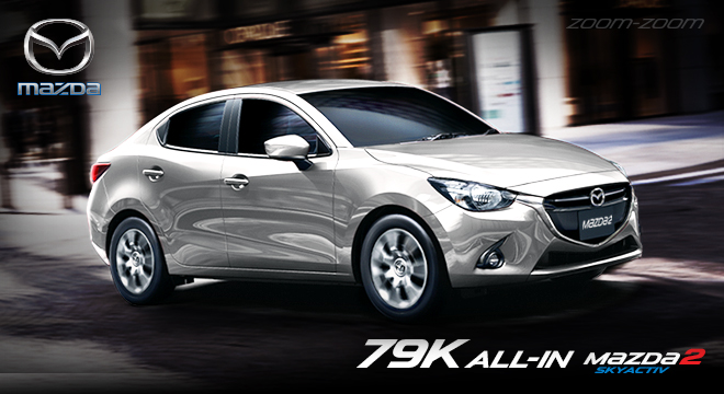 mazda2 skyactiv v 1.5l sedan with a p79,000 all-in downpayment