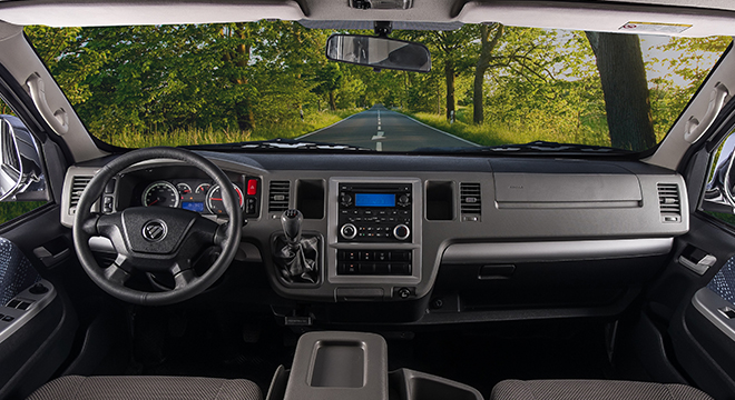 2018 Foton View Traveller 16-seater interior