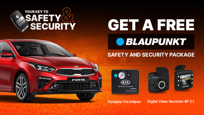 Kia Forte with FREE Blaupunkt Safety and Security Package