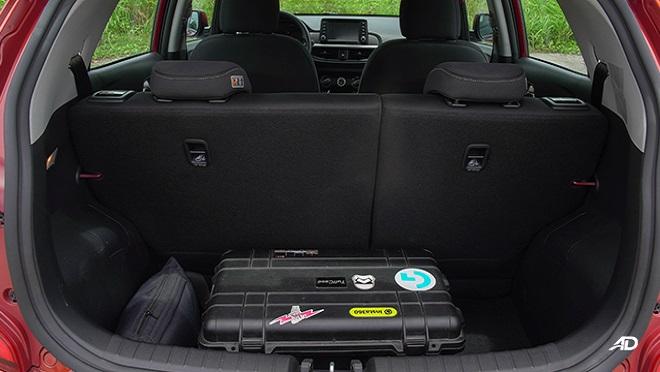 Kia Picanto interior cargo space Philippines